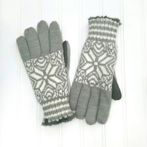 Isotoner Knit Snowflake Touch Screen Gloves
